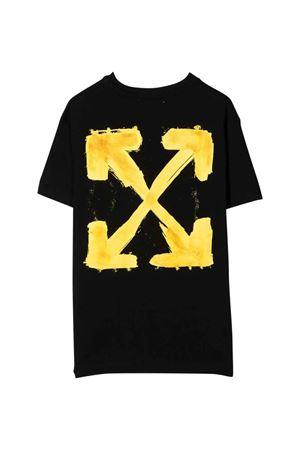 T-shirt nera con stampa gialla off-white kids | 8 | OBAA002F21JER0071018