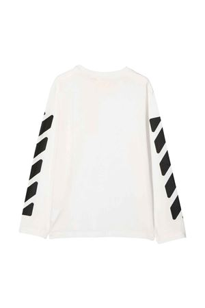 Shirt bianca con stampa nera off-white kids | 8 | OBAB001F21JER0010110
