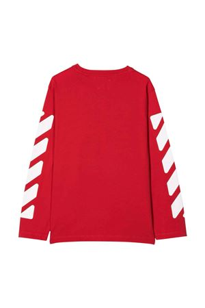 Shirt rossa con stampa bianca off-white kids | 8 | OBAB001F21JER0012501