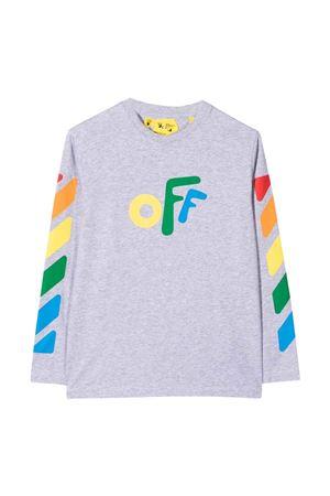 Shirt grigia con stampa multicolor off-white kids | 8 | OBAB001F21JER0020584