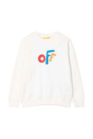 Shirt bianca con stampa multicolor off-white kids | 7 | OBBA001F21FLE0010184