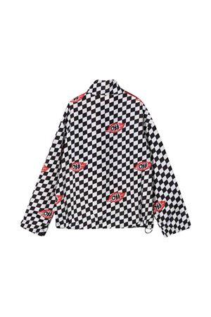 Checkered print sweatshirt off-white kids | -108764232 | OBBD001F21FAB0021001