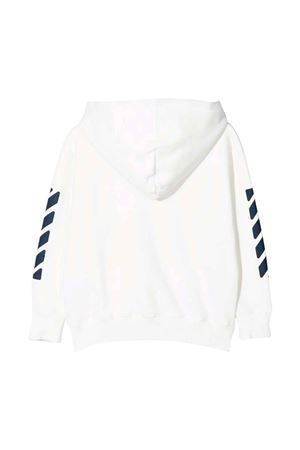 Felpa bianca con stampa blu off-white kids | -108764232 | OBBE001F21FLE0010146