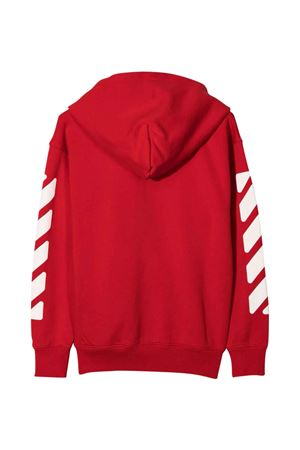 Felpa rossa con stampa bianca off-white kids | -108764232 | OBBE001F21FLE0012501