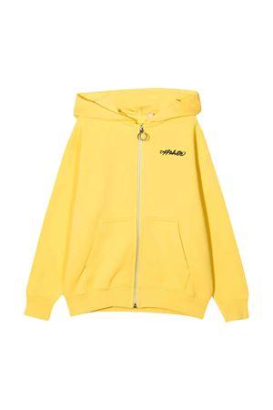 Felpa gialla con logo off-white kids | -108764232 | OBBE001F21FLE0041810