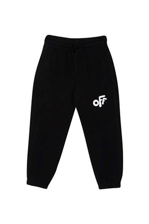 Black trousers with white logo off-white kids | 9 | OBCH001F21FLE0011001