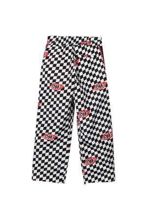 Checkered print trousers off-white kids | 9 | OBCJ001F21FAB0021001