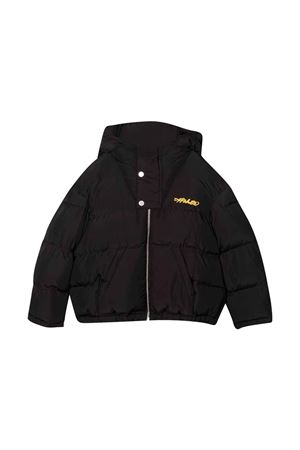 Black down jacket with yellow print off-white kids | 783955909 | OBEA001F21FAB0031018