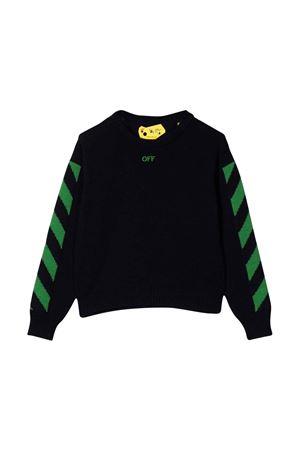 Maglia nera con stampa verde off-white kids | 7 | OBHA001F21KNI0024650