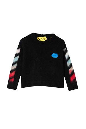 Maglia nera con stampa multicolor off-white kids | 7 | OBHA002F21KNI0011084