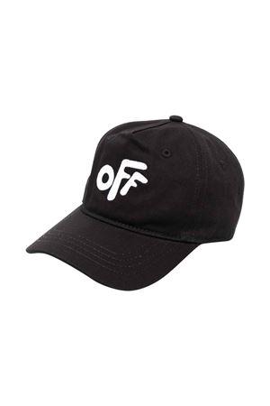 Cappello nero con logo bianco off-white kids | 75988881 | OBLB001F21FAB0011001