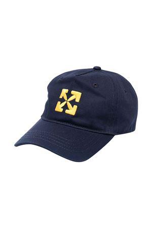 Cappello blu con stampa gialla off-white kids | 75988881 | OBLB001F21FAB0024618