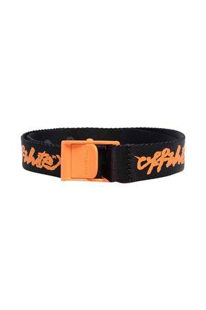 Cintura nera con stampa arancione off-white kids | 22 | OBRB002F21FAB0011020