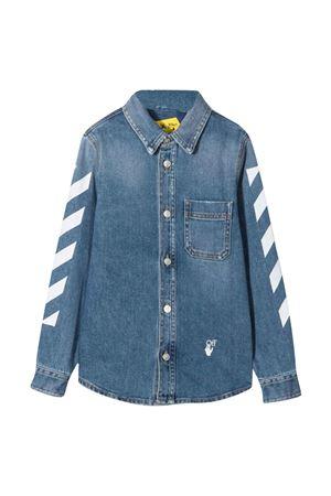 Denim shirt with print off-white kids | 5032334 | OBYD001F21DEN0014501