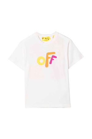 T-shirt bianca con stampa multicolor off-white kids | 8 | OGAA001F21JER0020184