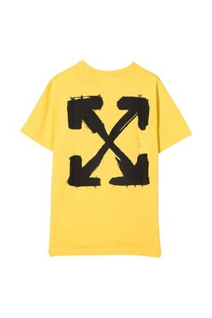 T-shirt gialla con stampa off-white kids | 8 | OGAA001F21JER0081810
