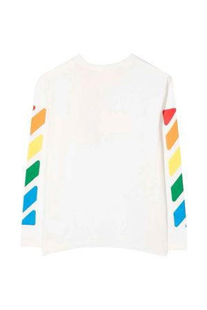 T-shirt bianca con stampa multicolor off-white kids | 8 | OGAB001F21JER0010184