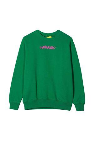 Maglia verde con stampa fucsia off-white kids   7   OGBA001F21FLE0045532