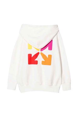Felpa bianca con stampa multicolor off-white kids   -108764232   OGBB002F21FLE0010184