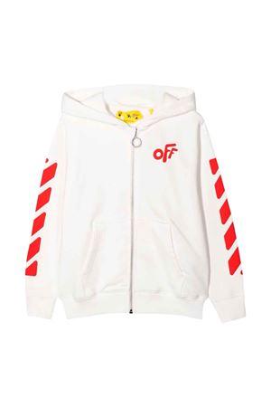 Felpa bianca con stampa rossa off-white kids | -108764232 | OGBE001F21FLE0010125