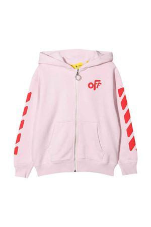 Felpa rosa con stampa rossa off-white kids | -108764232 | OGBE001F21FLE0013025