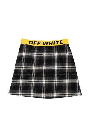Gonna nera e bianca con banda gialla in vita off-white kids   15   OGCC003F21FAB0021018