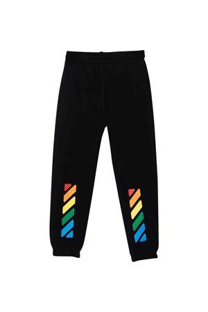 Pantaloni neri con stampa multicolor off-white kids | 9 | OGCH001F21FLE0011084