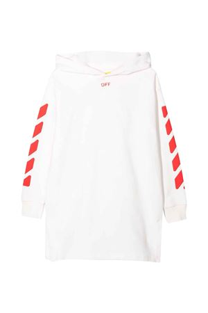 Abito bianco con cappuccio e stampa rossa off-white kids | 11 | OGDB002F21FLE0010125