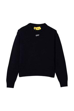 Maglione nero con logo off-white kids | -108764232 | OGHA003F21KNI0014601