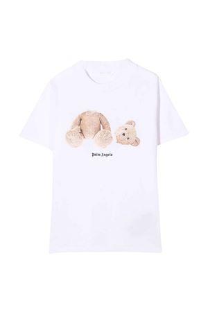 White t-shirt with print PALM ANGELS KIDS | 8 | PBAA001F21JER0010160