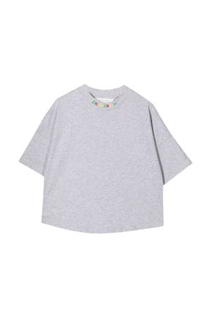 Grey t-shirt with multicolor print PALM ANGELS KIDS | 8 | PBAA002F21JER0010684