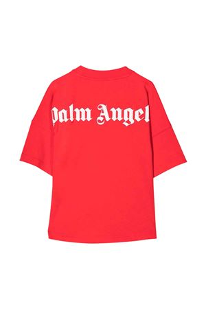 Red t-shirt with white print PALM ANGELS KIDS | 8 | PBAA002F21JER0012501