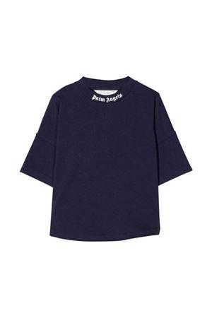 Blue t-shirt with white print PALM ANGELS KIDS | 8 | PBAA002F21JER0014601