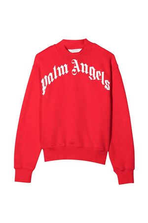 Red sweatshirt with white print PALM ANGELS KIDS | -108764232 | PBBA002F21FLE0012501