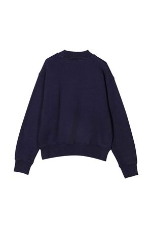 Blue sweatshirt with white print PALM ANGELS KIDS | -108764232 | PBBA002F21FLE0014601