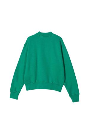 Green sweatshirt with white print PALM ANGELS KIDS | -108764232 | PBBA002F21FLE0015501