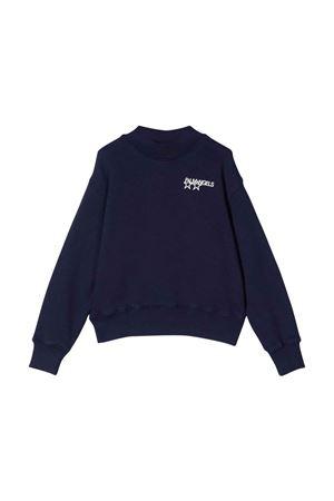 Blue sweatshirt with white print PALM ANGELS KIDS | -108764232 | PBBA003F21FLE0014646