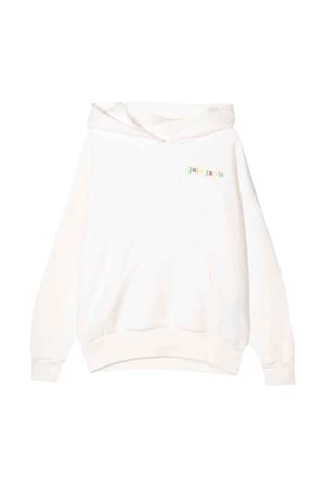 White sweatshirt with multicolor print PALM ANGELS KIDS | -108764232 | PBBB002FL21FLE0010184