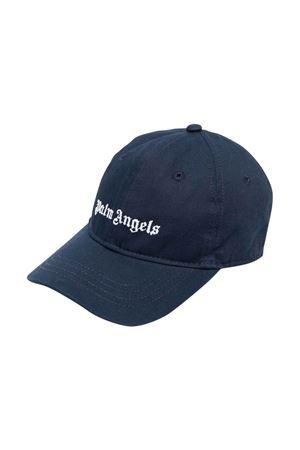 Blue hat with white print PALM ANGELS KIDS | 75988881 | PBLB002F21FAB0014601
