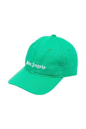 Cappello verde con stampa bianca PALM ANGELS KIDS | 75988881 | PBLB002F21FAB0015501