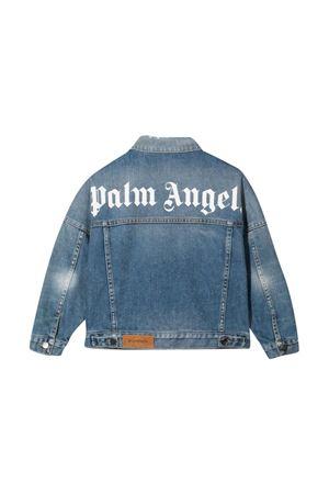 Giacca denim con stampa bianca PALM ANGELS KIDS | 3 | PBYE001F21DEN0014501