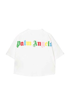 T-shirt bianca con stampa multicolor PALM ANGELS KIDS | 8 | PGAA001F21JER0010184