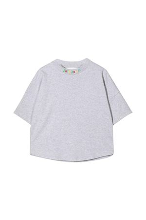 T-shirt grigia con stampa multicolor PALM ANGELS KIDS | 8 | PGAA001F21JER0010684
