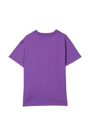 T-shirt viola con stampa PALM ANGELS KIDS | 8 | PGAA002F21JER0013760