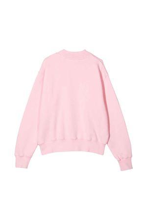Felpa rosa con stampa blu PALM ANGELS KIDS | -108764232 | PGBA001F21FLE0013046