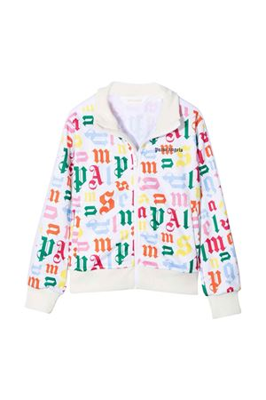 Giacca bianca con stampa multicolor PALM ANGELS KIDS | 3 | PGBD001F21FAB0028401