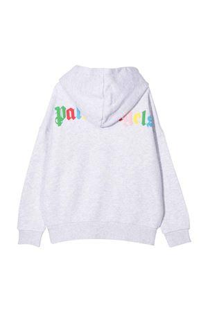 Felpa bianca con zip e stampa multicolor PALM ANGELS KIDS | -108764232 | PGBE001F21FLE0010684