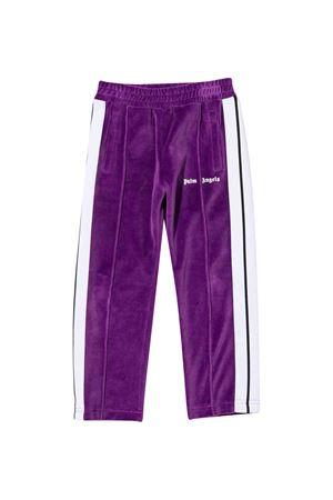 Pantaloni sportivi viola con banda laterale PALM ANGELS KIDS   9   PGCA002F21FAB0033701