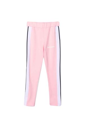 Leggings rosa con bande laterali PALM ANGELS KIDS   411469946   PGCD001F21FAB0013001
