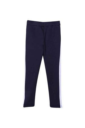 Leggings blu con bande laterali PALM ANGELS KIDS   411469946   PGCD001F21FAB0014601